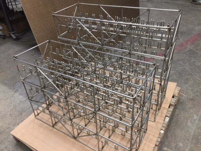 Stainless Steel Baskets for Aerospace Turbine Blades