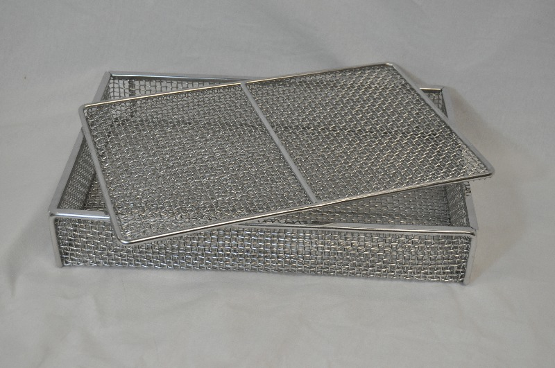 Lidded Stainless Steel Wire Mesh Basket for Sintering Processes